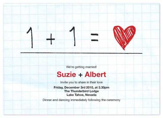 wedding invitations - Equation by John Scarratt