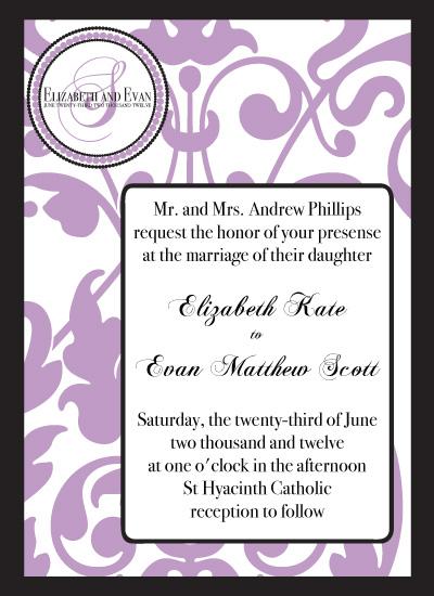 wedding invitations - Lovely Lavender  by Sadie Visser Designs