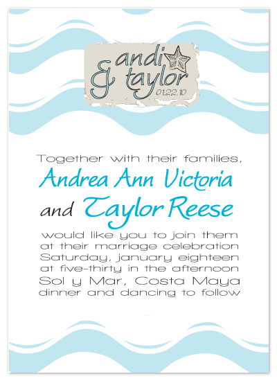 wedding invitations - Riding the Waves by Sadie Visser Designs