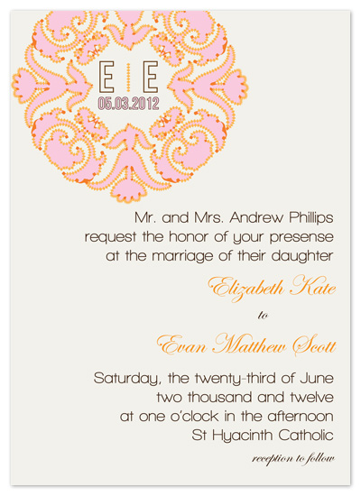 wedding invitations - Dotted Flourish Monogram by Sadie Visser Designs