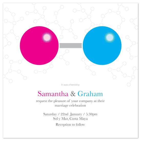 wedding invitations - Chemistry by John Scarratt