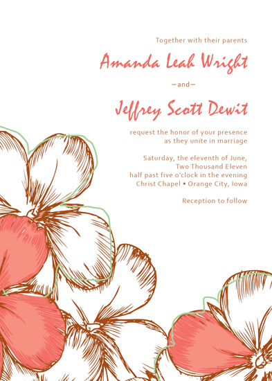 wedding invitations - Spring Flowers by Amanda Wright