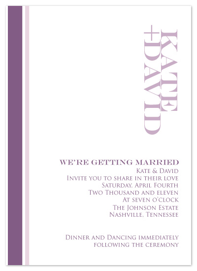 wedding invitations - Simple Kind Of Love by Jennifer Stein of PS Designs Etc.