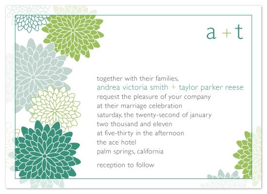 wedding invitations - Chrysanthemum Bloom by Michelle Viesselman
