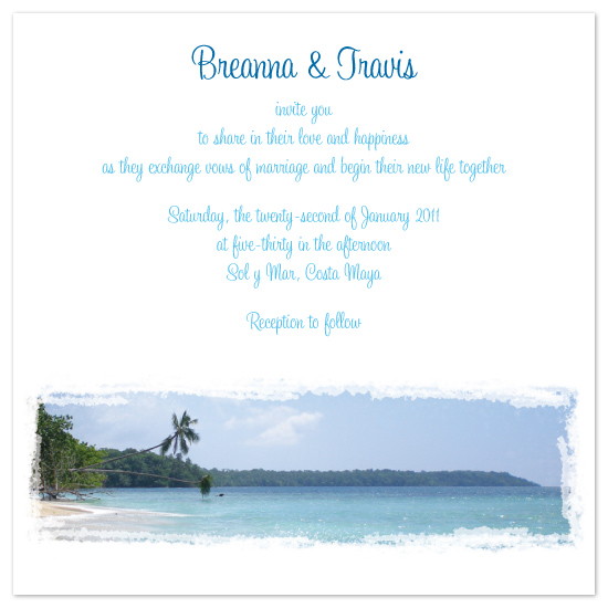 wedding invitations - Island Hideaway by Danielle Higgins