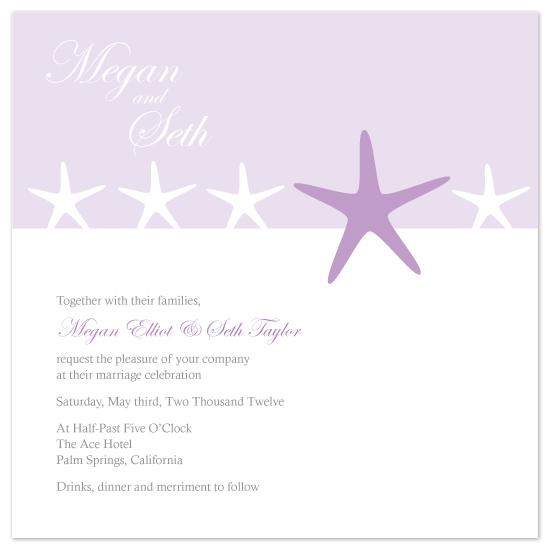 wedding invitations - Starfish by Danielle Higgins