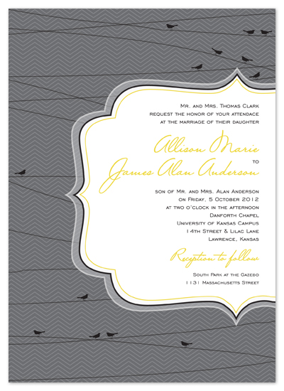 wedding invitations - On a Wire by Heidi Stock Design