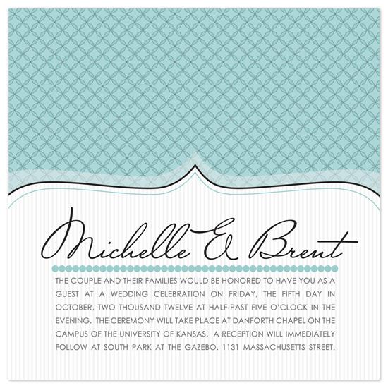 wedding invitations - Modern Top Note by Heidi Stock Design