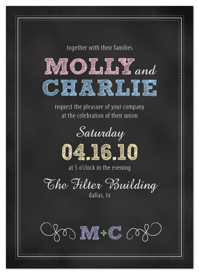 wedding invitations - Vintage Chalkboard by Artful Ambition