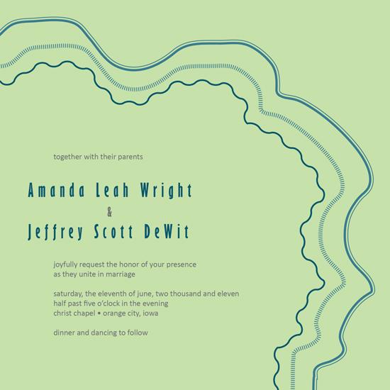 wedding invitations - Green by Amanda Wright