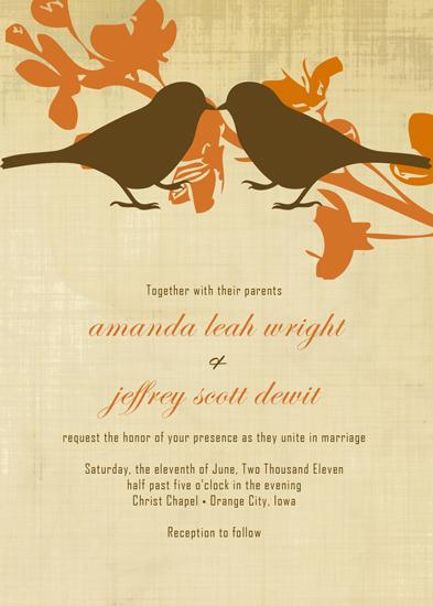 wedding invitations - Two Birds by Amanda Wright