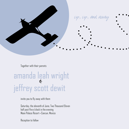 wedding invitations - Up, Up, and Away by Amanda Wright