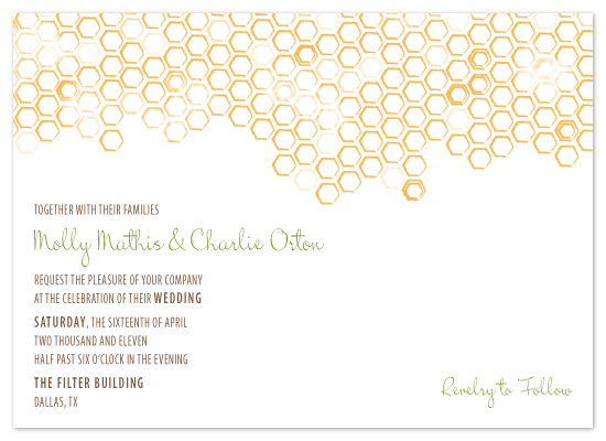 wedding invitations - Honeycomb by Artful Ambition