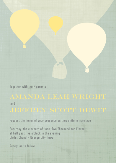 wedding invitations - Hot Air Balloons by Amanda Wright