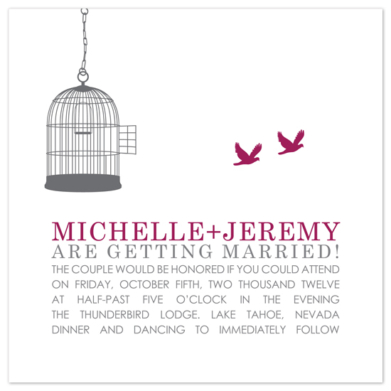 wedding invitations - Bird Cage by Heidi Stock Design