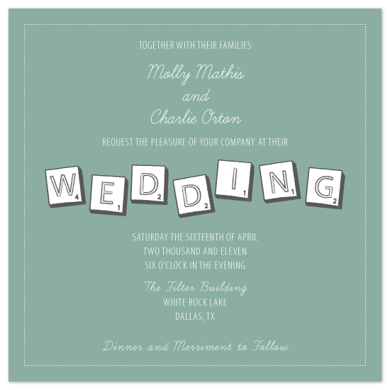 wedding invitations - Word Lover by Artful Ambition
