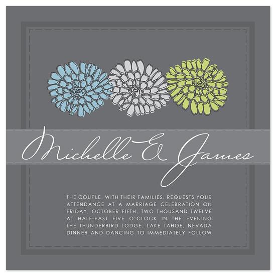 wedding invitations - Modern Flora by Heidi Stock Design