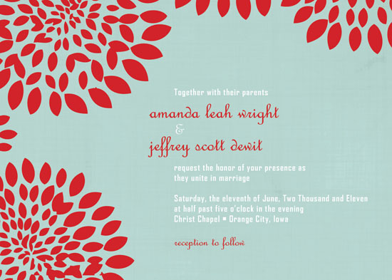 wedding invitations - Red Floral by Amanda Wright