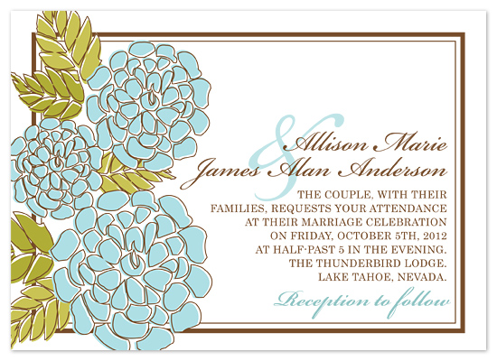 wedding invitations - Elegant Modern by Heidi Stock Design