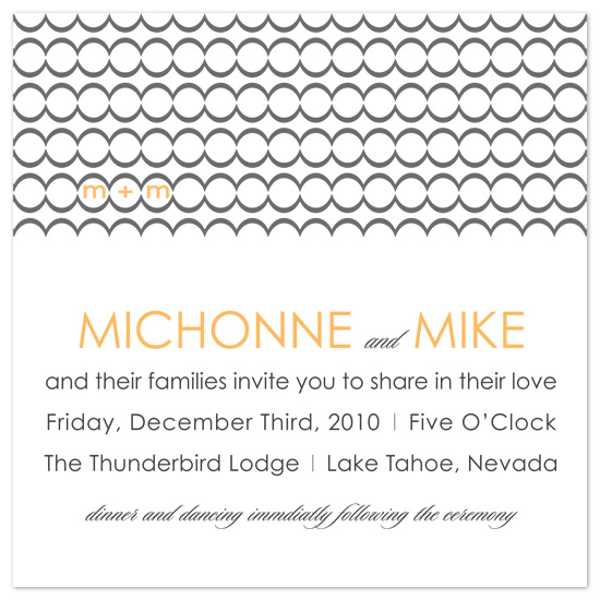 wedding invitations - Circles of Romance by Sadie Visser Designs