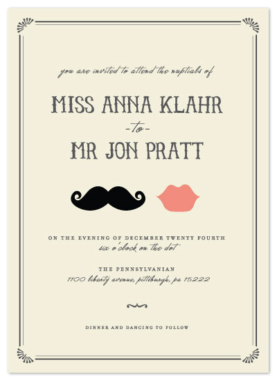 wedding invitations - Kiss + Kiss by Penelope Poppy