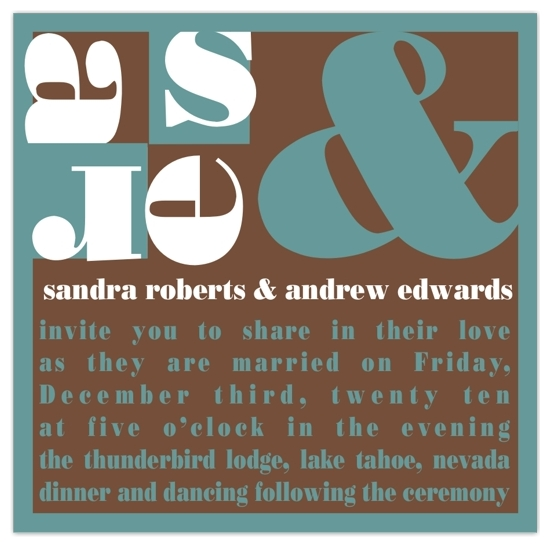 wedding invitations - Ampersand Monogram by Kathy Miehs