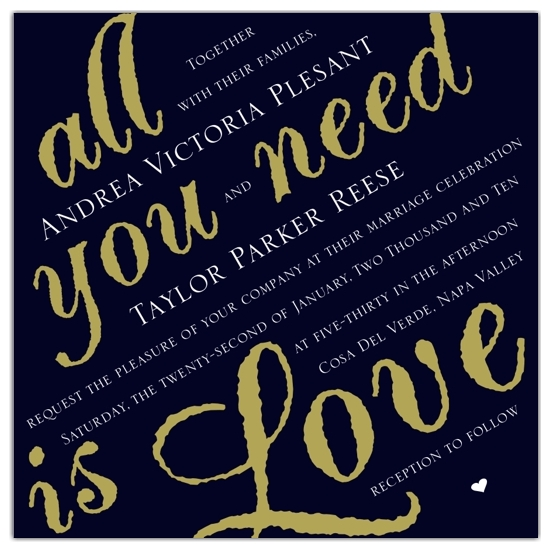 wedding invitations - Love is all you Need by Kathy Miehs