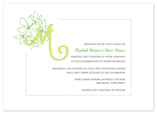 wedding invitations - Daisy Day by Kathleen Burlew