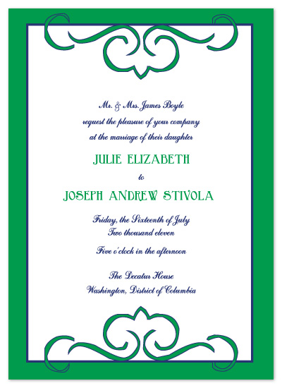 wedding invitations - Positively Preppy by Kathleen Burlew