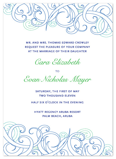 wedding invitations - Make a Splash by Kathleen Burlew