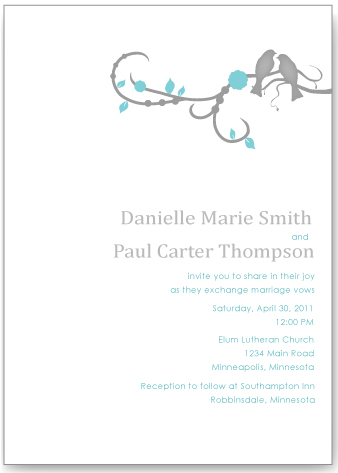 High Quality Wedding Invitations   Elegant Love Bird By Life Events