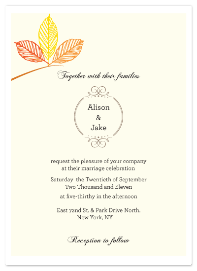 wedding invitations - Autumn love by Giselle Zimmerman
