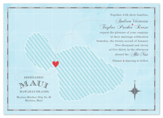 wedding invitations - Destination: Maui by Tanya Williams