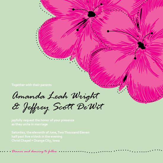 wedding invitations - Minty Floral by Amanda Wright