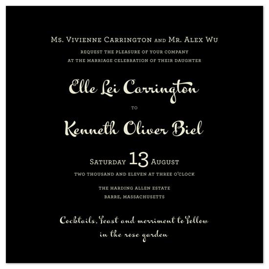 wedding invitations - Wedding Type by Emily Ranneby