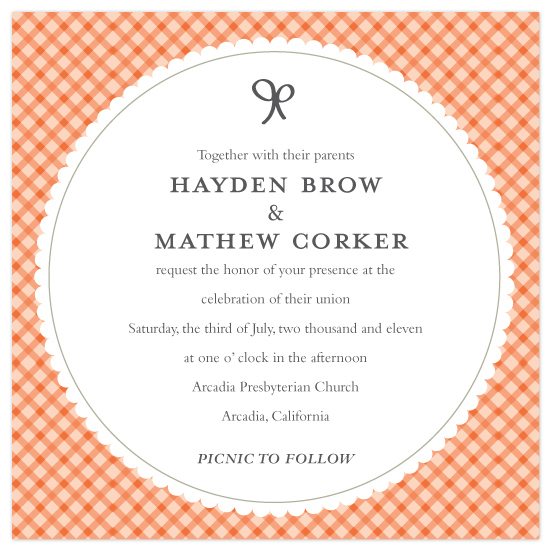 wedding invitations - simple picnic  by SimpleTe Design