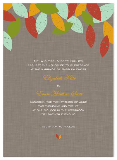 wedding invitations - Rustic Fall by Becca Thongkham