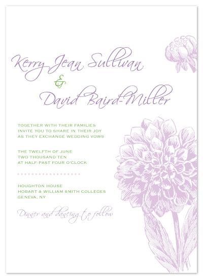 wedding invitations - Dahlia Invitation by Christine Meahan
