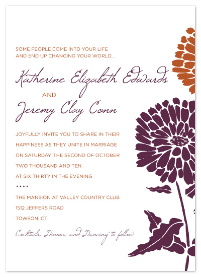 wedding invitations - Fall Flowers by Christine Meahan