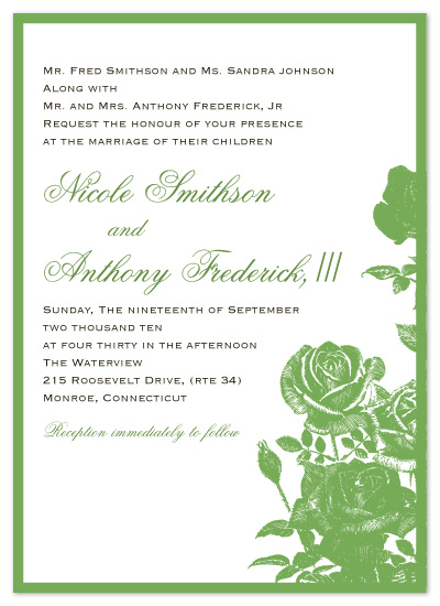 wedding invitations - Roses by Christine Meahan