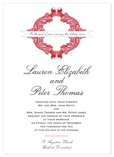 wedding invitations - Holiday Wedding by Christine Meahan