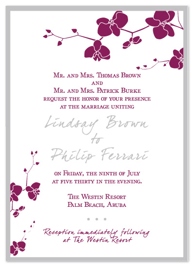 Wedding invitations orchid wedding invitation by christine meahan