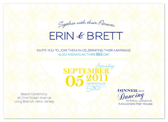 wedding invitations - Shore Is Love by Yellow Umbrella Creative