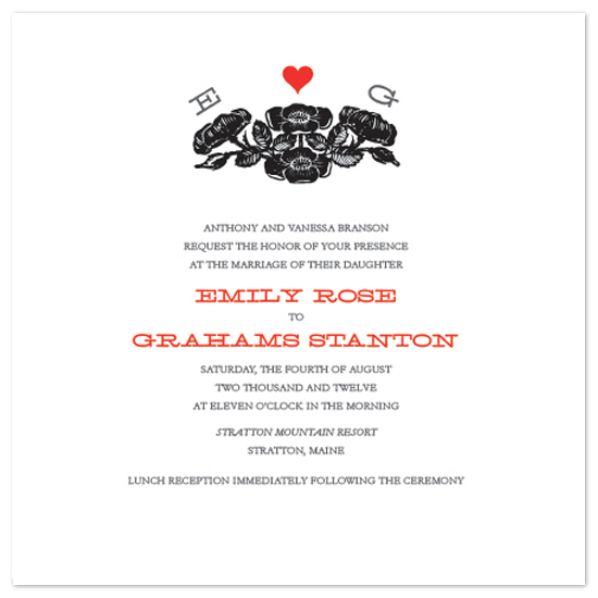 wedding invitations - Budding Love by Foreignspell