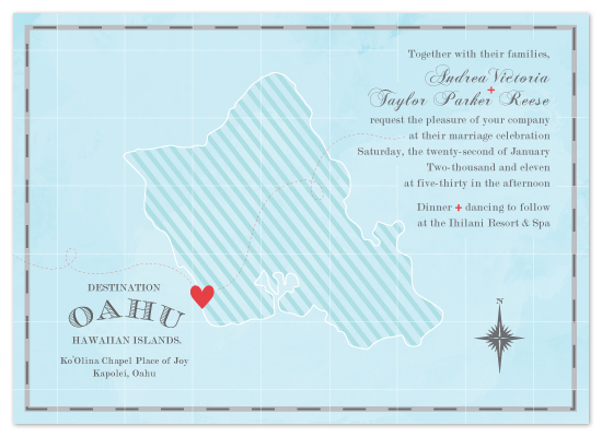 wedding invitations - Destination: Oahu by Tanya Williams