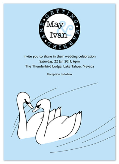 wedding invitations - SWAN LOVE by Vivien Lau