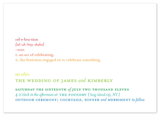 wedding invitations - Wedding Dictionary by MBrady