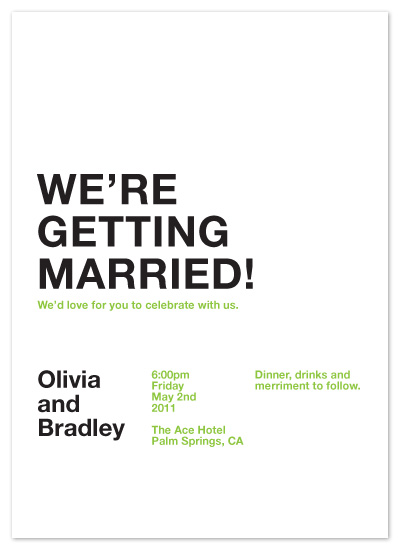 wedding invitations - Simple Modern at Minted.com