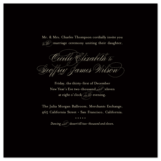 wedding invitations - Midnight Luster by Tanya Williams