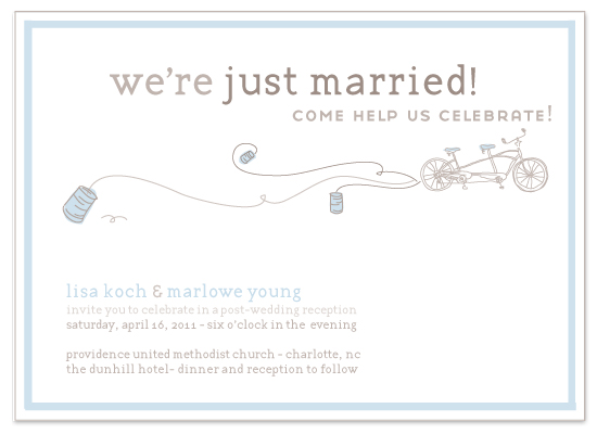 wedding invitations - bicycle built for two by Lauren Fasnacht